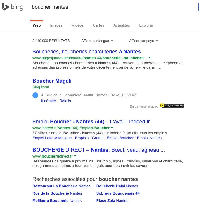 Bing au 3 juillet